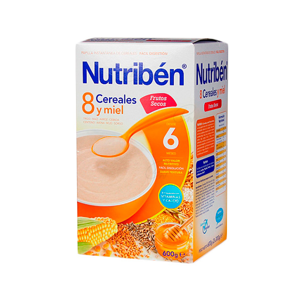 NUTRIBEN 8 CEREALES MIEL FRU SECOS 300 G