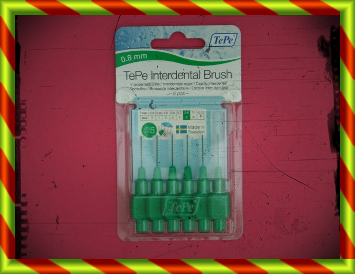 TEPE CEPILLO INTERDENTAL 0.8 MM VERDE 6U