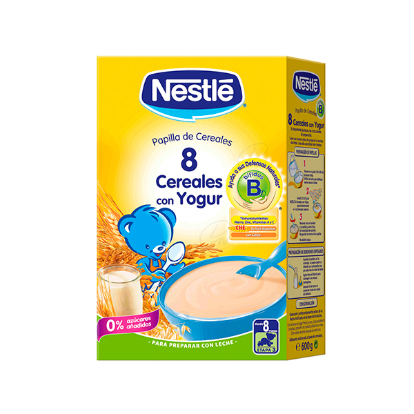NESTLE 8 CEREALES YOGUR 600 GR