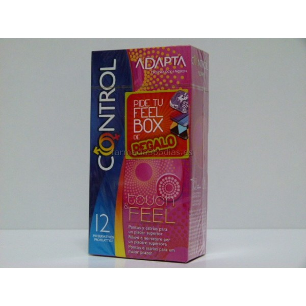 CONTROL LE CLIMAX TOUCH & FEEL - PRESERVATIVOS  (12 U)