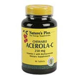 ACEROLA C 250mg. 90comp.masticables NATURE´S PLUS