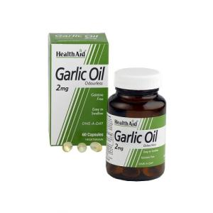ACEITE DE AJO (garlic oil) 2mg. 60cap. HEALTH AID HEALTH AID