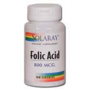 ACIDO FOLICO 800mcg. 100cap. SOLARAY
