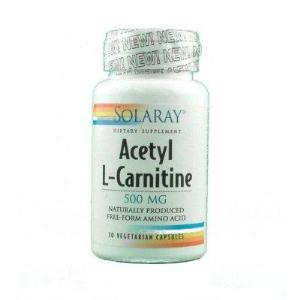 ACETYL L-CARNITINE 500mg. 30cap. SOLARAY