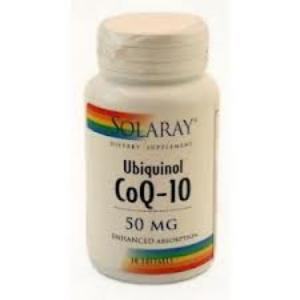 UBIQUINOL CoQ10 50mg. 30perlas SOLARAY