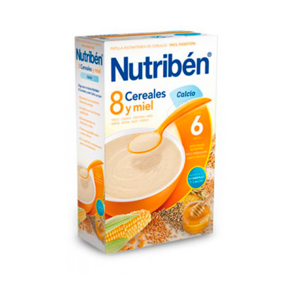 NUTRIBEN 8 CEREALES MIEL CALCIO 600 GR